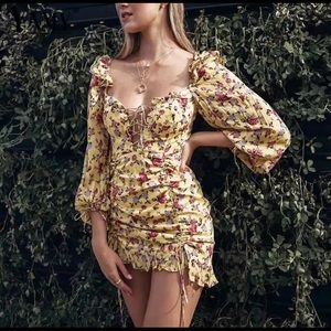 For love and lemons beaumont mini dress dupe!!